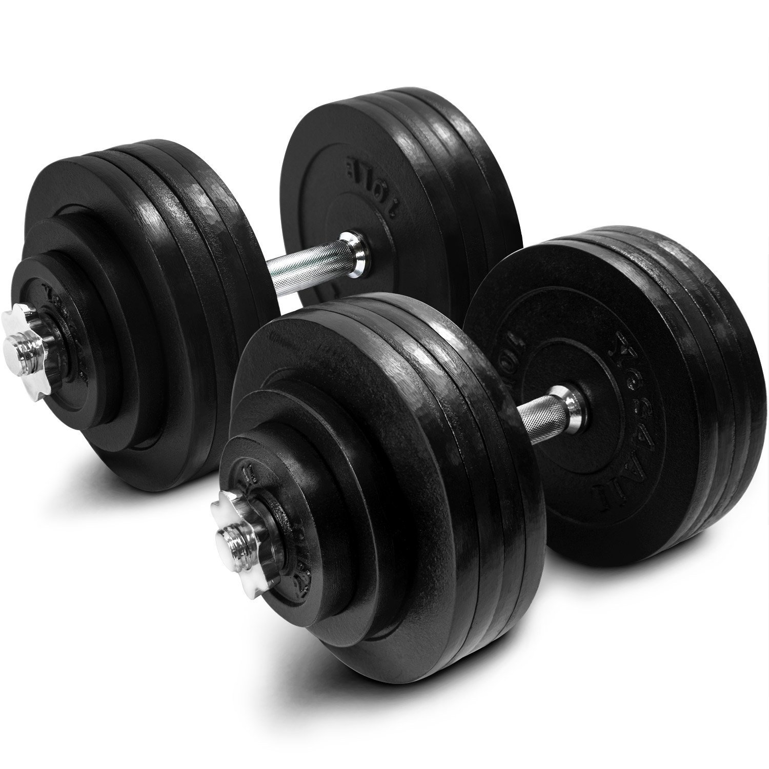 set of adjustable dumbbells