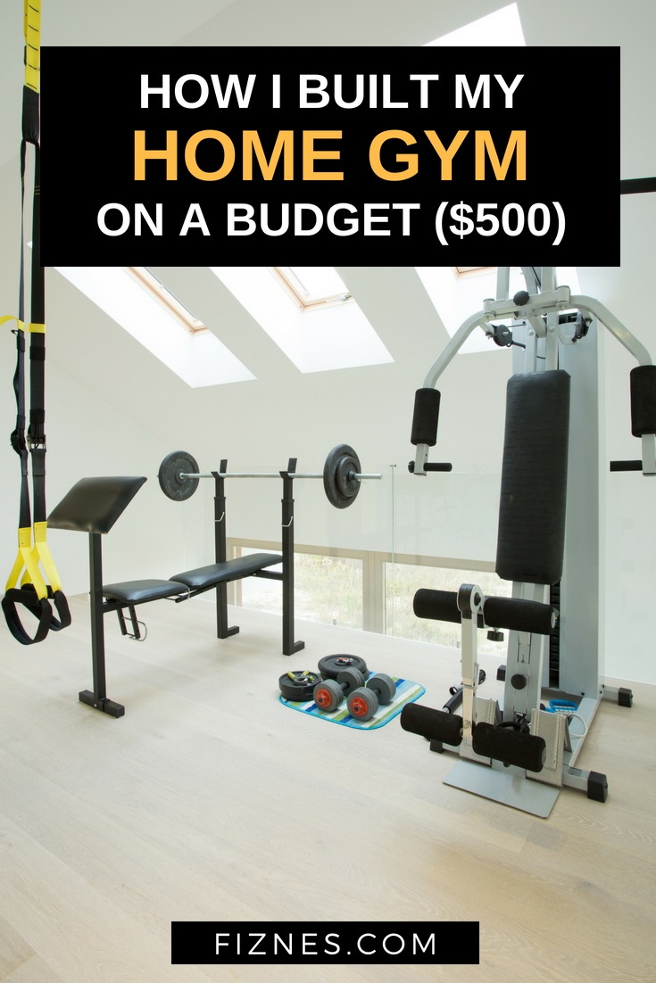 image for pinterest saying cheap home gym