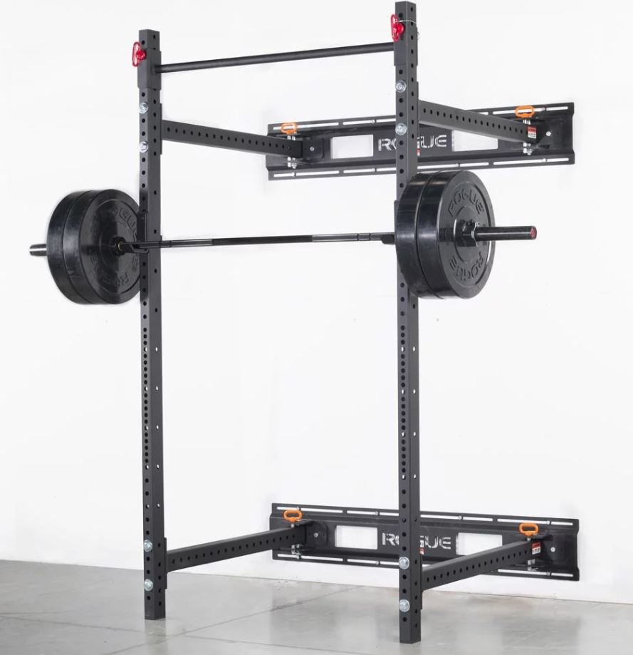 power rack conected to a wall